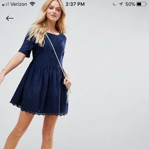 Asos smock dress, New with tags, navy, 14